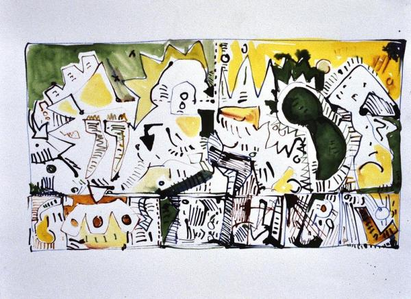 Untitled, 1984, Ink on Paper, 30x50cm