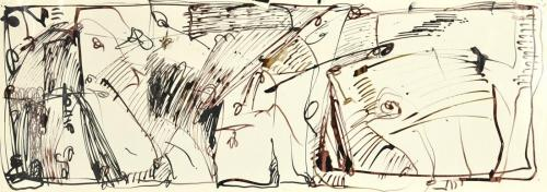 Margaret Kelley: Detail, Pages from a Diary I, 1985, Ink and Pen, 30x50cm
