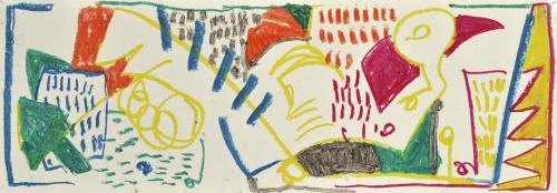 Margaret Kelley: Detail, Pages from a Diary III, 1985, Wax Crayon, 30x50cm