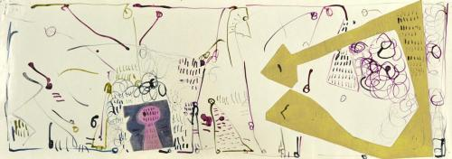 Margaret Kelley: Detail, Pages from a Diary II, 1985, Collage, Ink and Pen, 30x50cm